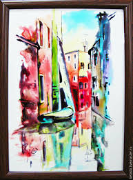 Painting Boat Interior Buy The Streets Of Venice Stained Glass Painting On Livemaster