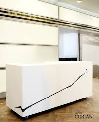 White Acrylic Desk by Reception Desks U0026 Offices Dfmk Solid Surface Milton Keynes