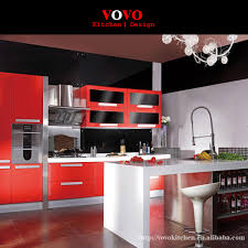 Aliexpresscom  Buy DIY Luxury High Gloss Red Lacquer Kitchen - Red lacquer kitchen cabinets