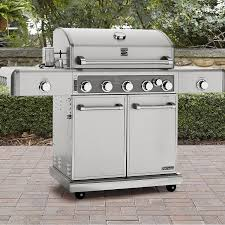 kenmore elite 5 burner gas grill stainless steel shop your way