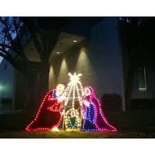 Outdoor Nativity Lighted - lighted nativity scene decoration christ mas pinterest noel