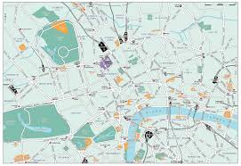 london guide map major tourist attractions maps