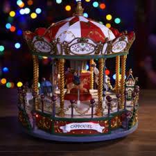 christmas carousel musical christmas carousel with led lights