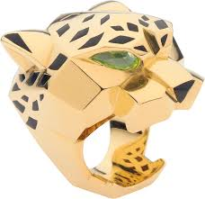 cartier rings gold images Crn4193100 panth re de cartier ring yellow gold lacquer png