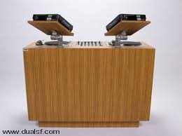 Dj Desk Beautifully Crafted Dj Furniture By Duelsf Dj Dj Booth And Consoles
