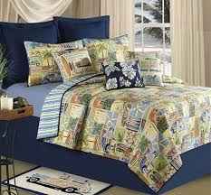 Surfing Bedding Sets Surf Rider Quilt Set Boy Surfer Surfboard Surf