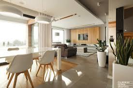 home interior decorating poland modern home interior black white light wood color scheme 8