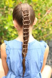 knotted ponytail and more hairstyles from cutegirlshairstyles