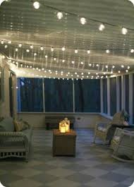 great idea string lights around a deck or outside space to add a