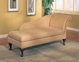 tan microfiber classic chaise lounge w flip open storage