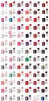 essie nail color chart for searching for the perfect shade