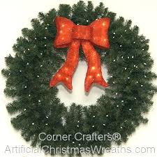 lighted christmas wreath 36 inch l e d lighted christmas wreath cornercrafters