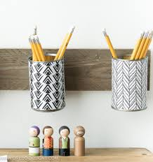 how to make a pencil holder from empty tin cans u2022 grillo designs