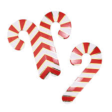 gold foiled candy cane glass decorations red and gold by ginger