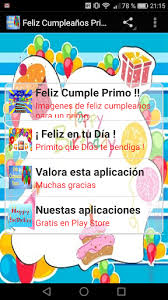imagenes cumpleaños de primo download feliz cumpleaños primo google play softwares aryi3szp6n6g