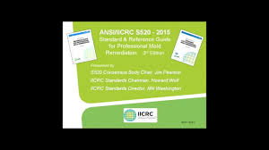 newly revised ansi iicrc s520 2015 what you need to know youtube