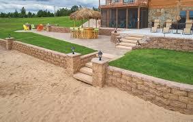 landscape block adhesive summit stone landscape units