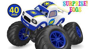 monster truck video for kids monster trucks racing car toy videos for kids police chase