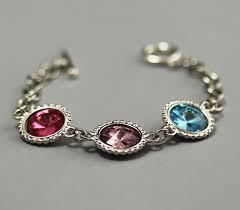 mothers birthstone bracelet s bracelet birthstone bracelet silver swarovski