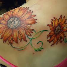 cute sunflower tattoo sunflower shoulder tattoo on tattoochief com