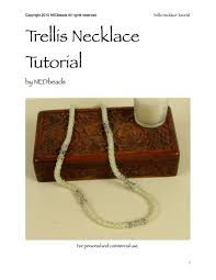 tutorial trellis necklace from nedbeads on etsy studio