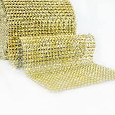 Bling Wrap For Vases Mesh Trim Diamond Tulle 1 Yard 91 5cm Wed Direct
