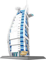 amazon com the burj al arab hotel of dubai building blocks 1307