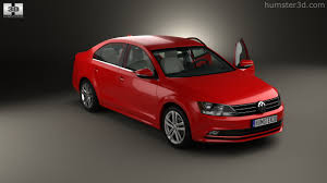 red volkswagen jetta interior 360 view of volkswagen jetta with hq interior 2015 3d model
