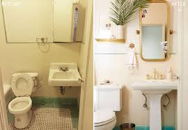 Before After Bathroom Makeovers - brady gives a refresh to his vintage bathroom emily henderson