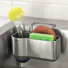 Sink Caddy Sink Sponge  Brush Holder Sponge Rack Solutions - Kitchen sink sponge holder