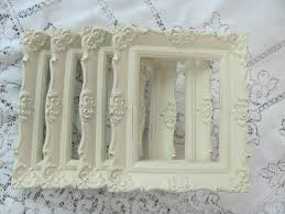 ornate picture frame set antique white vintage picture frames