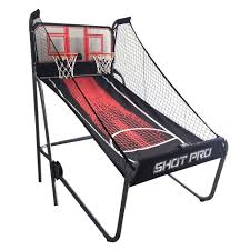 hathaway 4 4 ft shot pro deluxe electronic basketball game