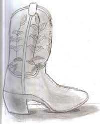 cowboy boot pencil sketch by californiahunt24 on deviantart