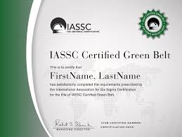 iassc lean six sigma green belt exam included from hudson an