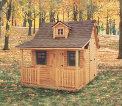 shed with porch plans 8 u0027x8 u0027 cottage playhouse with 1 dormer custom barns and buildings