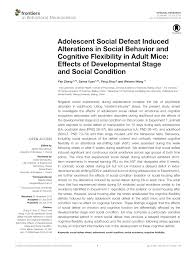 si e social nestl chronic social defeat stress model pdf available