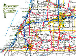 Michigan Maps Map Of Sw Michigan Michigan Map