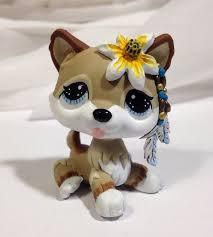 Lps Halloween Costumes Littlest Pet Shop Dog Sand Wolf Lps Custom Hand Painted Husky