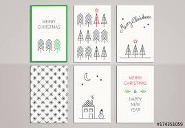 christmas greeting card set 7 image adobe stock