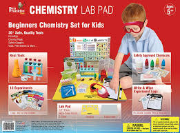 amazon com ben franklin toys chemistry lab pad science kit 50