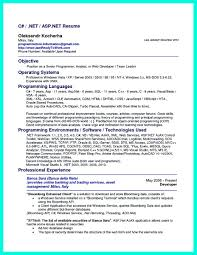 Resume Samples Net by Asp Net Resume Sample Free Resume Example And Writing Download