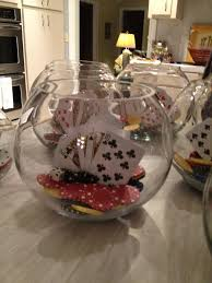 Poker Party Decorations Casino Party Centerpieces Made With Fish Bowls Playing Cards