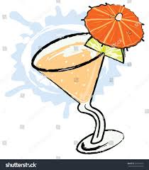 mixed drink clipart martini cocktail drink vector stock vector 570531613 shutterstock
