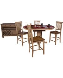 oval pub table set deals on sunset trading 5 piece brook round or oval butterfly leaf