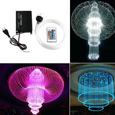 multi colored light fixture light multi color ceiling light font changing plastic optic fiber