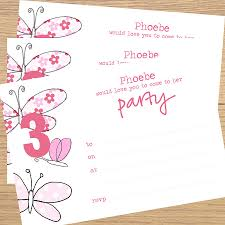 Beautiful Invitation Card Blank Party Invitation Card Sample With Floral And Butterfly