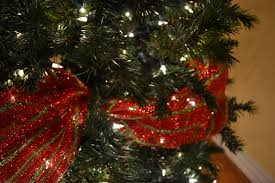 how decorate a christmas tree with ribbon christmas lights