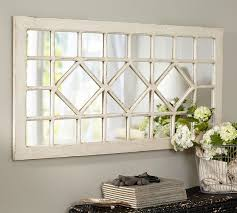 Mirror Over Dining Room Table - living room mirror over couch pottery barn trellis wood