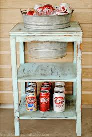 Upcycled Side Table 40 Creative Drink Station Ideas For Your Party 2017