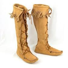 womens moccasin boots size 11 best minnetonka moccasins boots products on wanelo